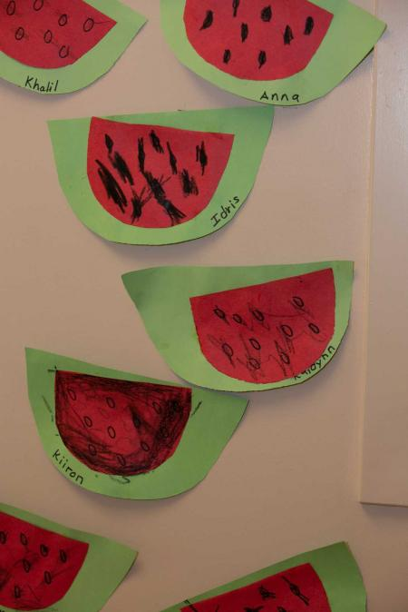 Watermelon paper crafts