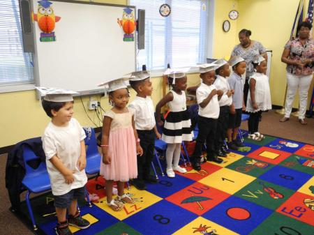 Children graduating Smithfield's Head Start